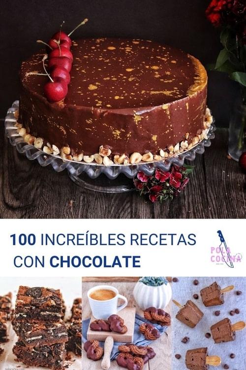 100 increíbles recetas de chocolate