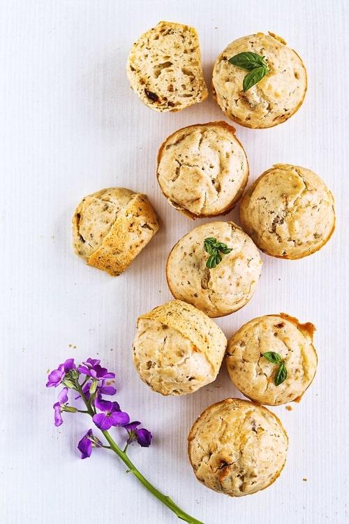 Muffins de sardinas con queso