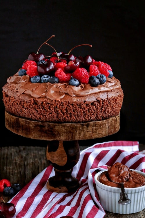 Pastel de chocolate y almendra sin gluten