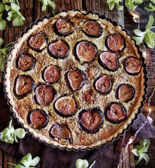 tarta de higos con pistache