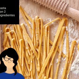 pasta con 2 ingredientes