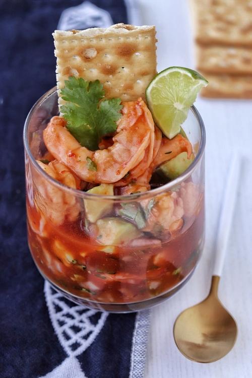coctel de camarón estilo Veracruz