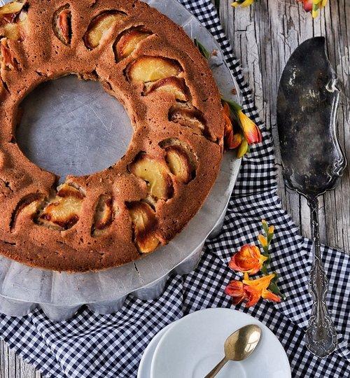 pastel vegano de manzana