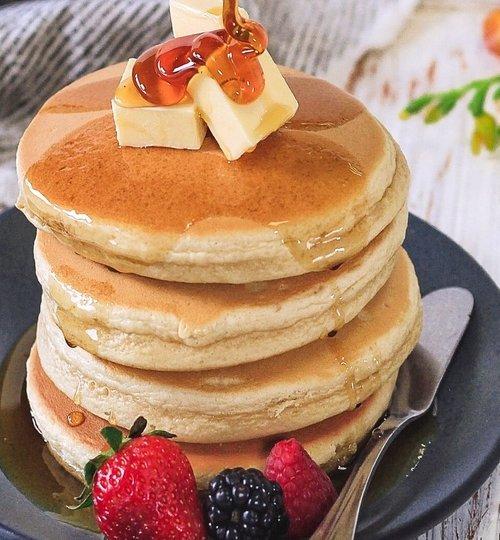 Hotcakes de avena y manzana sin harina