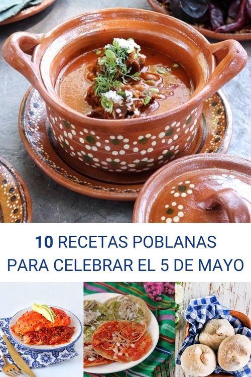 10 recetas poblanas para el 5 de mayo