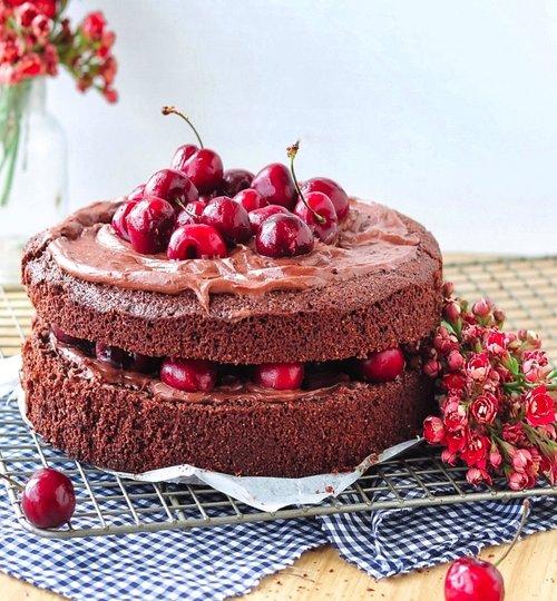 pastel de chocolate con harina de almendras
