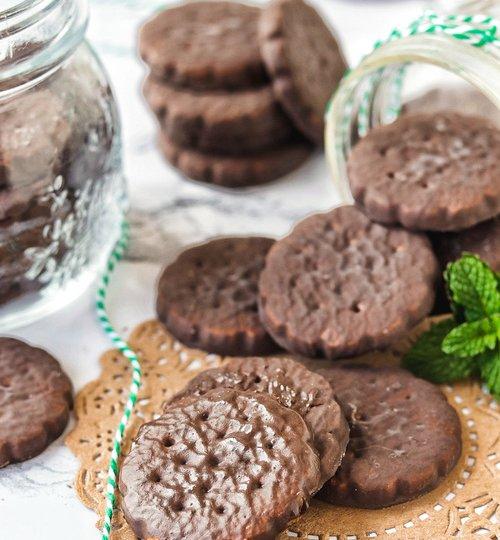 Galletas fudge de chocolate y menta