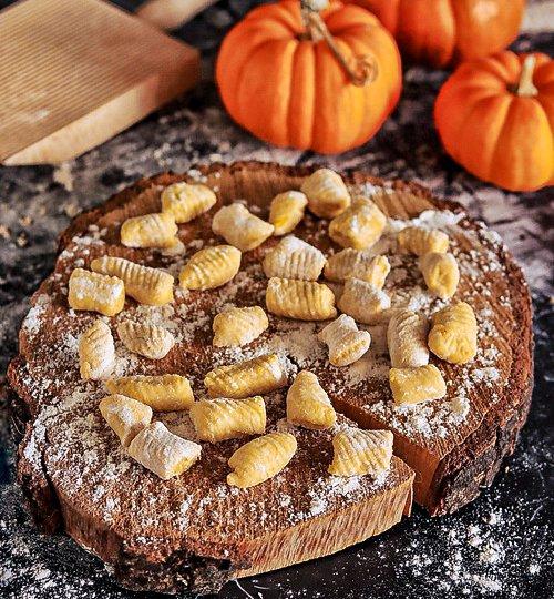 gnocchi de calabaza de halloween receta