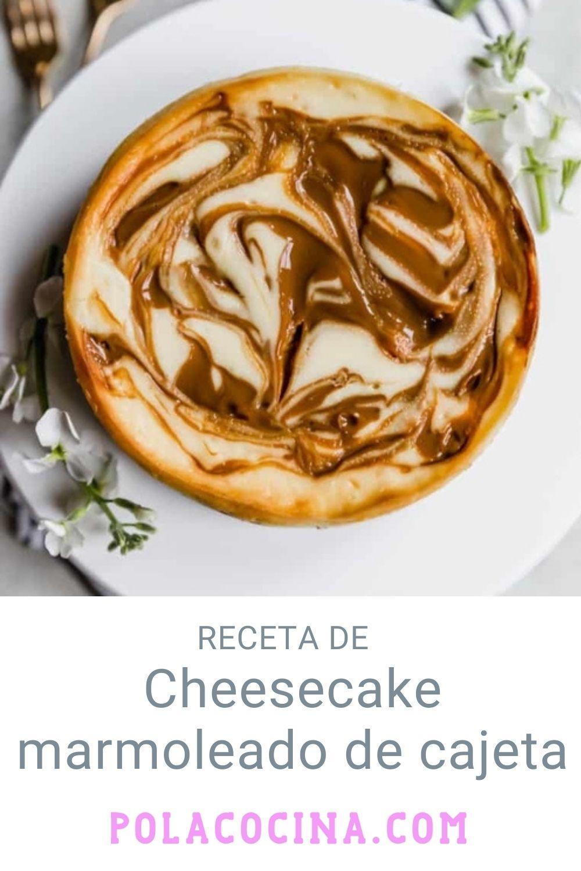 Cheesecake marmoleado de cajeta