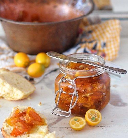 Mermelada de kumquats o naranjas chinas