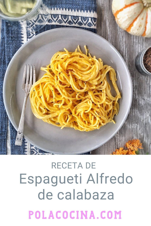 espagueti Alfredo de calabaza
